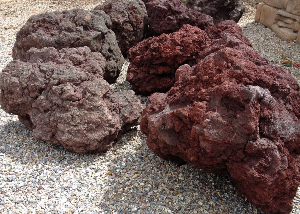 Landscape Lava Boulders : Lava boulders red and brown