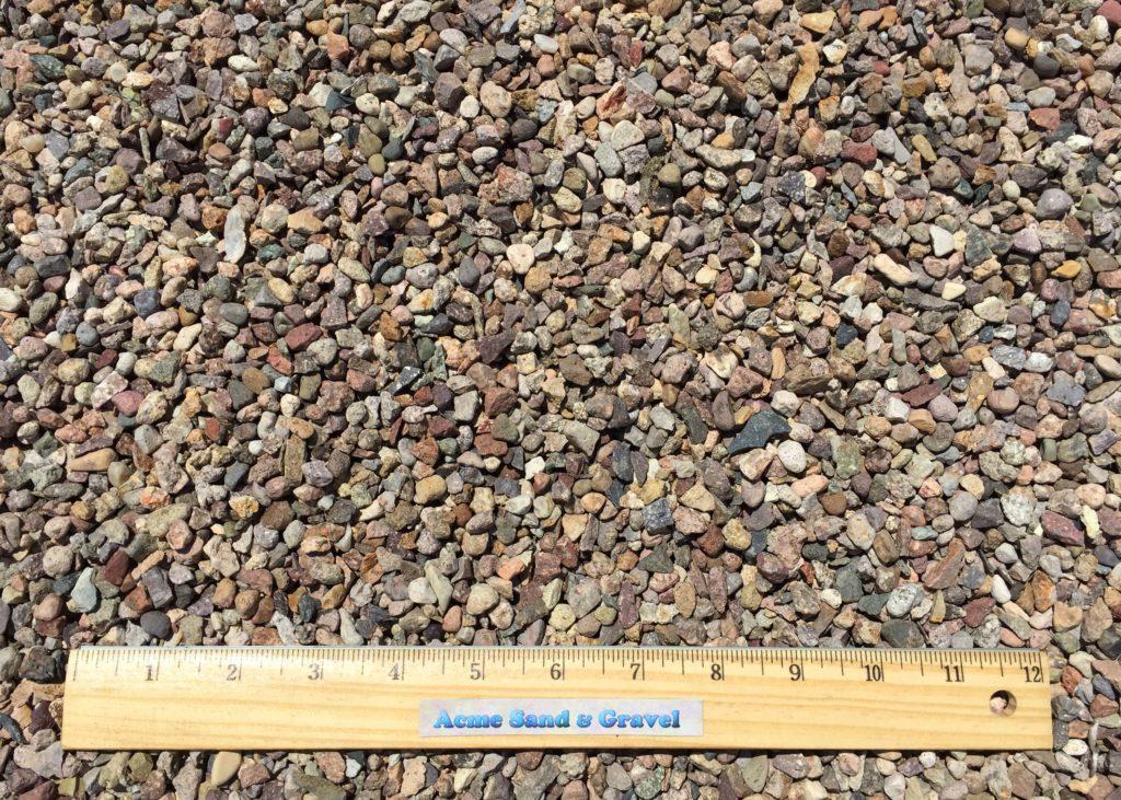 Pea gravel acme sand gravel for Dark brown landscape rock